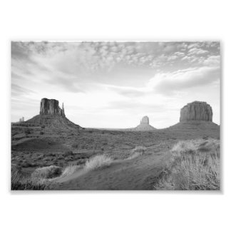 B&W Monument Valley 4 Photo Print