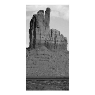 B&W Monument Valley 5 Customized Photo Card