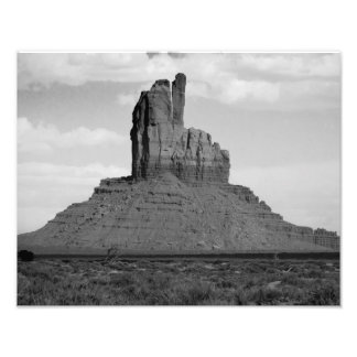 B&W Monument Valley 5 Photographic Print