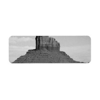 B&W Monument Valley 5 Return Address Label