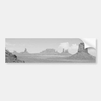 B&W Monument Valley Bumper Sticker