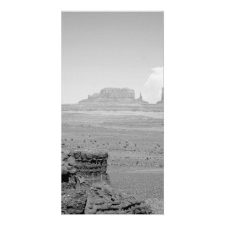B&W Monument Valley Custom Photo Card
