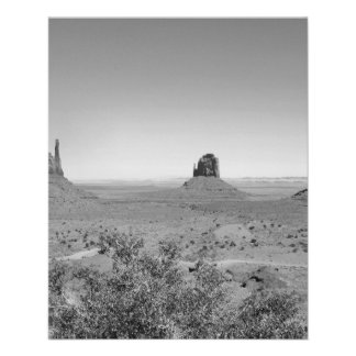 B&W Monument Valley in Arizona/Utah 11.5 Cm X 14 Cm Flyer