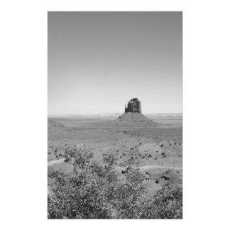B&W Monument Valley in Arizona/Utah 14 Cm X 21.5 Cm Flyer