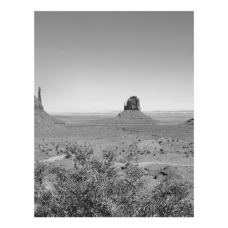 B&W Monument Valley in Arizona/Utah 21.5 Cm X 28 Cm Flyer