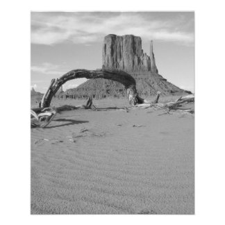B&W Monument Valley in Arizona/Utah 2 11.5 Cm X 14 Cm Flyer