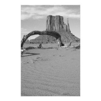 B&W Monument Valley in Arizona/Utah 2 14 Cm X 21.5 Cm Flyer