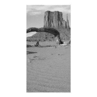 B&W Monument Valley in Arizona/Utah 2 Customized Photo Card