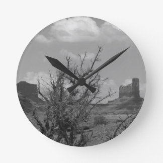 B&W Monument Valley in Arizona/Utah 3 Wallclock