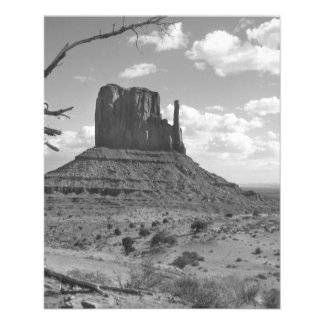 B&W Monument Valley in Arizona/Utah 4 11.5 Cm X 14 Cm Flyer