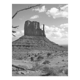 B&W Monument Valley in Arizona/Utah 4 21.5 Cm X 28 Cm Flyer