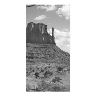 B&W Monument Valley in Arizona/Utah 4 Photo Card Template