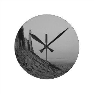 B&W Monument Valley in Arizona/Utah 5 Wallclocks