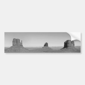B&W Monument Valley in Arizona/Utah Bumper Sticker