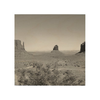 B&W Monument Valley in Arizona/Utah Wood Wall Decor