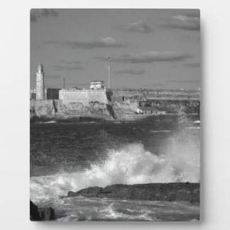 B&W Morro Castle Plaque