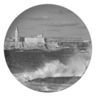 B&W Morro Castle Plate