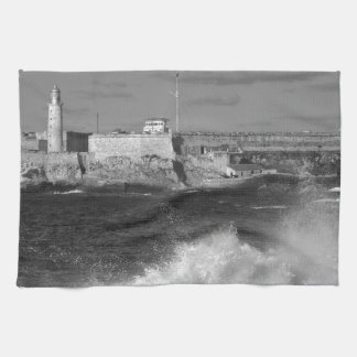 B&W Morro Castle Towel