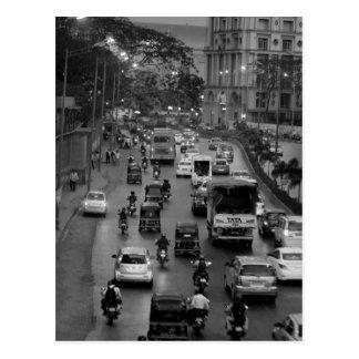 B&W Mumbai street Postcard
