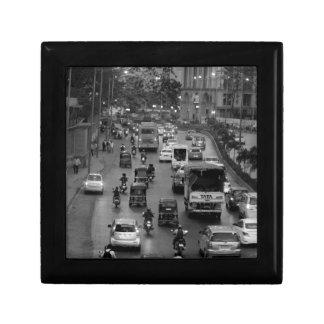 B&W Mumbai street Small Square Gift Box