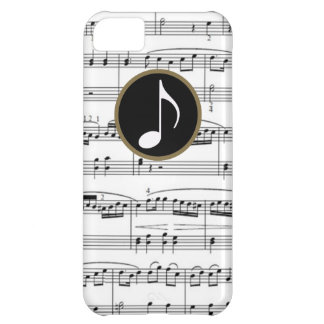 b&w musical notes iPhone 5C case