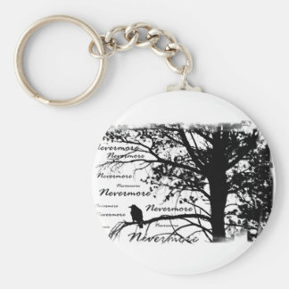 B&W Nevermore Raven Silhouette Key Ring