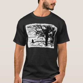 B&W Nevermore Raven Silhouette T-Shirt