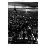 B&W New York City at Night Greeting Card