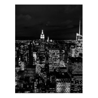 B&W New York City Postcard