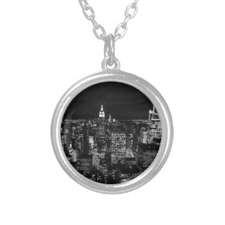 B&W New York City Silver Plated Necklace