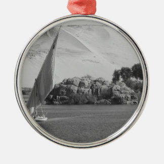 B&W Nile river Christmas Ornament