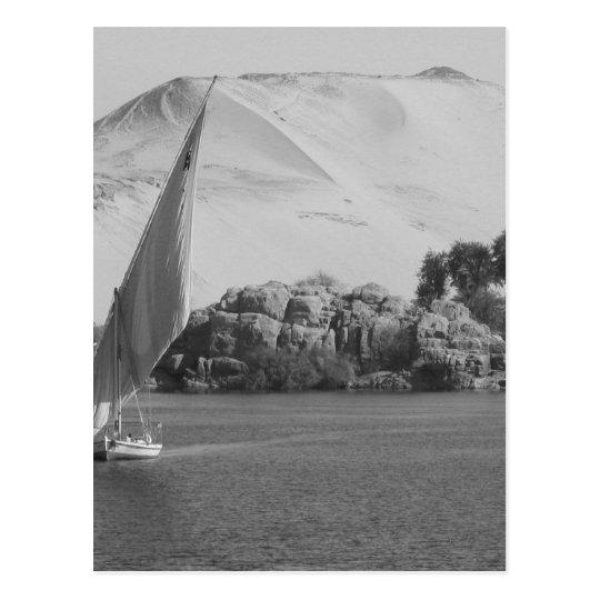 B&W Nile river Postcard