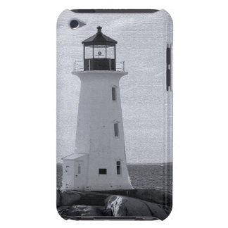 B W Peggy s Cove Lighthouse Barely There iPod Cover