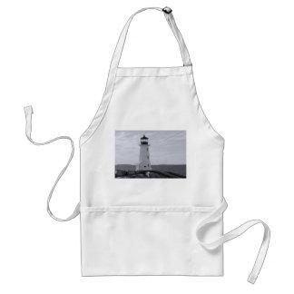 B&W Peggy's Cove Lighthouse Apron