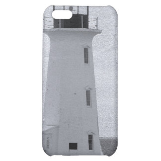 B&W Peggy's Cove Lighthouse Case For iPhone 5C