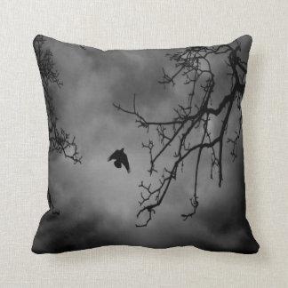 B&W Photo-Bird Flying #1-Pillow Throw Pillow