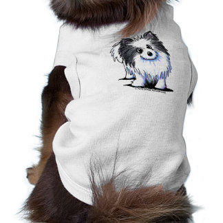B/W Pom Sleeveless Dog Shirt