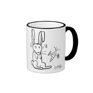 B/W Rabbit Mug