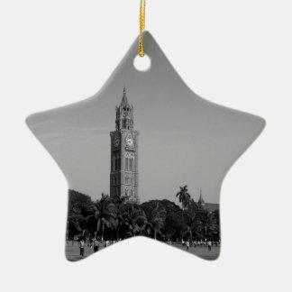 B&W Rajabai Clock Tower Christmas Ornament