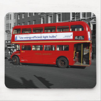 B/W Red Tinted London Red Bus Mouse Mat