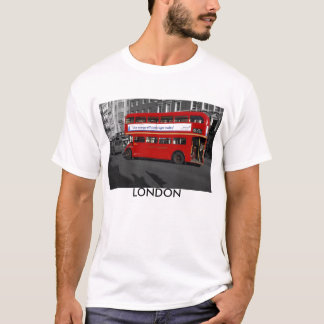 B/W Red Tinted London Red Bus T-shirt