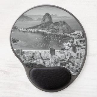 B&W Rio de Janeiro aerial view Gel Mouse Mat