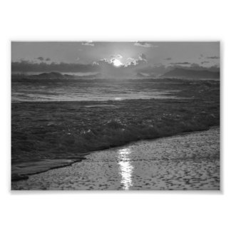 B&W Rio de Janeiro beach Photo Print