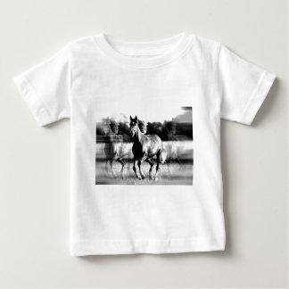B&W Running Horse Baby T-Shirt