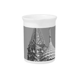 B&W Saint Basil's Cathedral Pitcher