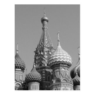 B&W Saint Basil's Cathedral Postcard