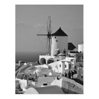 B&W Santorini 3 Postcard