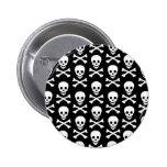 B&W Skull & Bones Pin