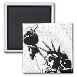 B&W Statue of Liberty Magnets