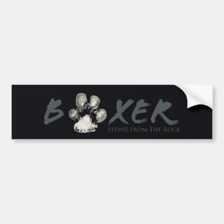 B/W Stewie from The Rock Pawprint BOXER Bumper Bumper Sticker